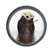 Bashful Sea Otter Wall Clock