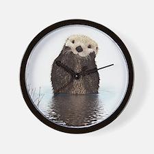 Bashful Sea Otter Wall Clock