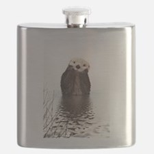 Bashful Sea Otter Flask