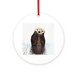 Sea otter Round Ornaments