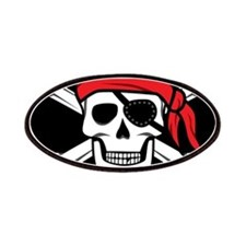 Jolly Roger Pirate (on Black) Patch