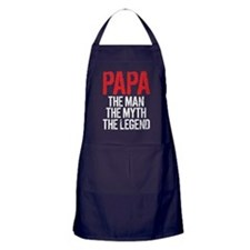 Papa, The Man, The Myth, The Legend Apron (dark)
