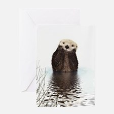 Bashful Sea Otter Greeting Cards