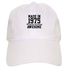 Cool 'Made in 1975, 40 years of being awesome' Baseball Cap