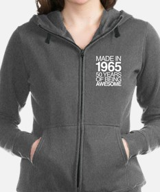 Made in 1965, 50 Years of Being Women's Zip Hoodie