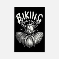 Biking Viking Rectangle Magnet (10 pack)
