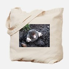 Adorable Mole in Dirt Tote Bag