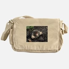 Adorable Mole in Dirt Messenger Bag