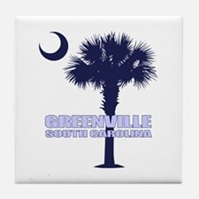 Greenville SC Tile Coaster