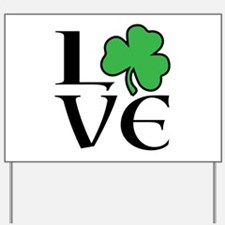 Celtic Love Shamrock Yard Sign
