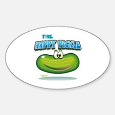 The Happy Pickle Sticker (Oval)