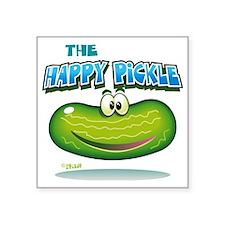 """The Happy Pickle Square Sticker 3"""" x 3"""""""