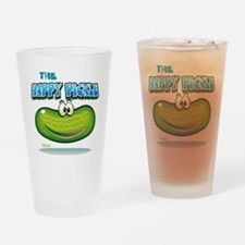 The Happy Pickle Drinking Glass