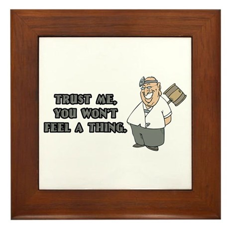 Surgeon or Anesthesiologist Framed Tile