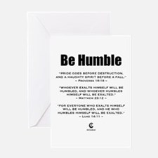 Be Humble 2.0 - Greeting Card