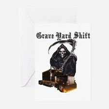 Grave Yard Shift Greeting Cards (Pk of 20)