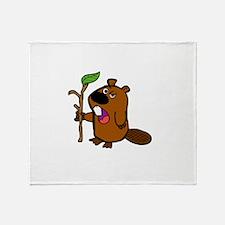 practical beaver Throw Blanket