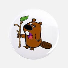"""practical beaver 3.5"""" Button"""