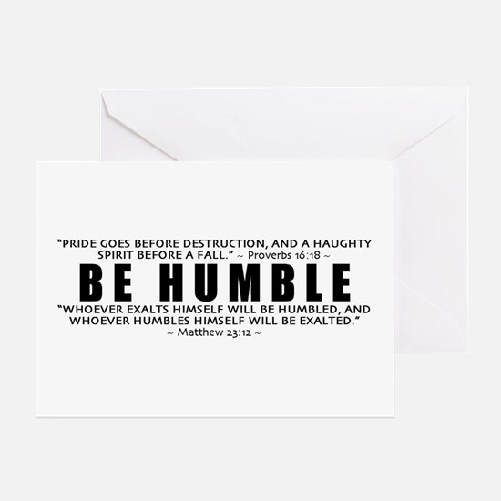 Be Humble 3.0 - Greeting Card