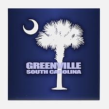 Greenville SC Tile Coaster