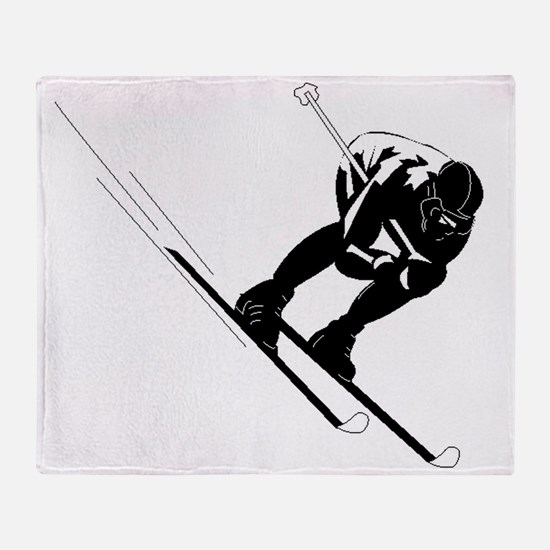 Ski Racer Throw Blanket
