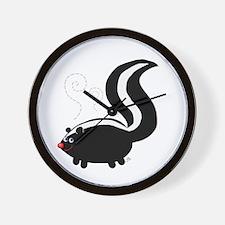Stinky Skunk Wall Clock