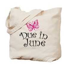 Due in June Maternity Butterfly Tote Bag