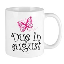 Due in August Butterfly Maternity Mugs