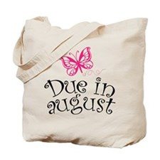 Due in August Butterfly Maternity Tote Bag