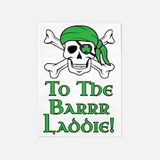 Irish Pirate - To The Barrr Laddie! 5'x7'Area Rug