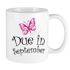 Due in September Butterfly Maternity Mugs