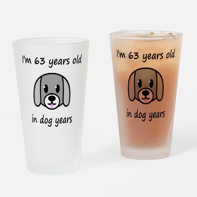 9 dog years 2 Drinking Glass