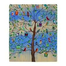 Cute Tree of life Throw Blanket