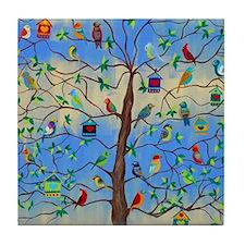 Cute Tree of life Tile Coaster