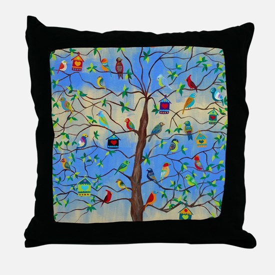 Unique Folk art Throw Pillow