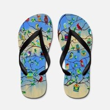 Cute Folk art Flip Flops