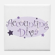 Accounting Diva [purple] Tile Coaster