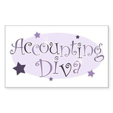 Accounting Diva [purple] Rectangle Decal