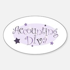 Accounting Diva [purple] Oval Decal