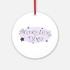 Accounting Diva [purple] Ornament (Round)