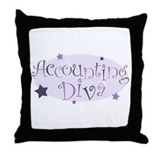 Accounting Diva [purple] Throw Pillow