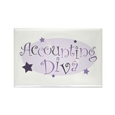 Accounting Diva [purple] Rectangle Magnet