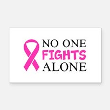 No One Fights Alone Rectangle Car Magnet