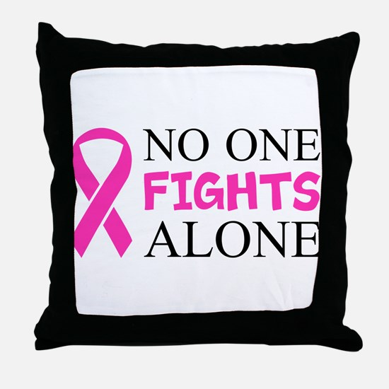 No One Fights Alone Throw Pillow