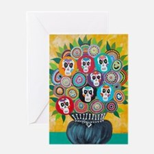 flowers sugar skull Greeting Card