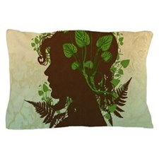 Leaf And Vine Woman Pillow Case