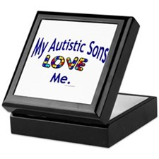 My Autistic Sons Love Me Keepsake Box