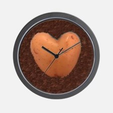 Cute Love potatoes Wall Clock