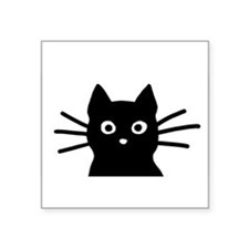 "Unique Cat Square Sticker 3"" x 3"""