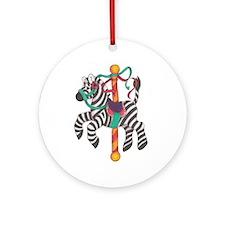 Carousel Zebra Ornament (round)